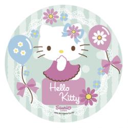 Opłatek na tort okrągły Hello Kitty D