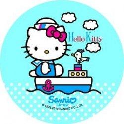 Modecor opłatek na tort Hello Kitty Kapitan 14,5cm