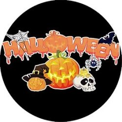 Opłatek waflowy na tort Halloween 20cm v19