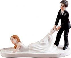 Figurka na tort ślub LEŻĄCA PANNA MŁODA