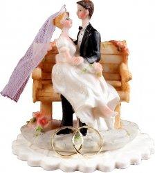 Figurka na tort Para Młoda NA ŁAWECZCE