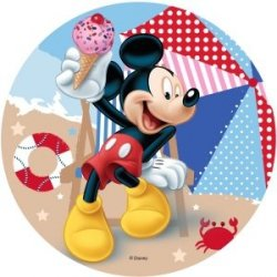 Modecor - opłatek na tort Myszka Mickey na plaży