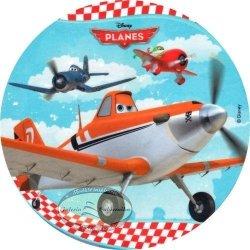 Kardasis - opłatek na tort okrągły Samoloty (Planes)