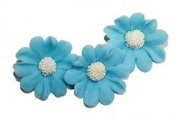 Stokrotka kwiaty cukrowe 5szt niebieskie