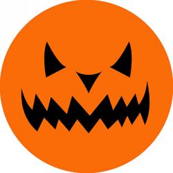 Opłatek waflowy na tort Halloween Dynia 20cm v18b