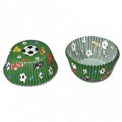 Papilotki, foremki do muffinek piłkarskie 50 szt