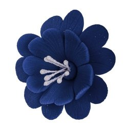 FUKSJA kwiat cukrowy na tort 6,5cm GRANATOWY 1szt