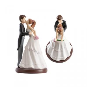 Figurka na tort ślub PARA MŁODA całująca się
