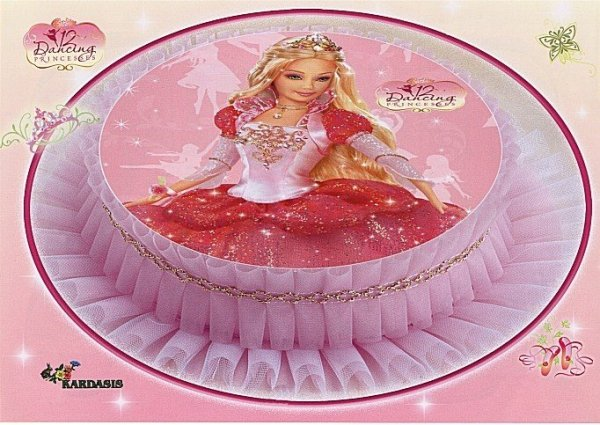 Opłatek na tort Barbie Dancing Princess