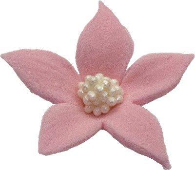 Płomyk kwiatki cukrowe 10szt różowe
