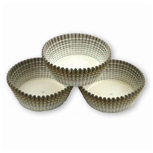 Papilotki foremki na muffinki 50mm oliwkowe 100szt