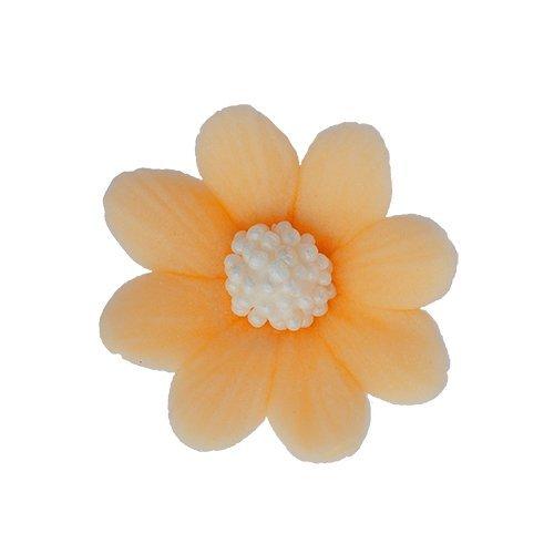 Kwiatki cukrowe HERBACIANE na tort MIŁEK 10szt