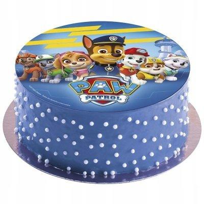 Opłatek waflowy na tort Psi Patrol 20cm