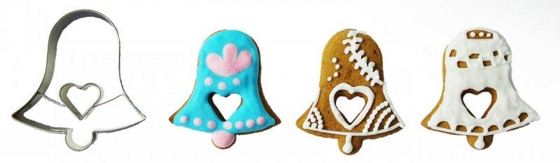 Wykrawaczka do ciastek DZWONEK z sercem