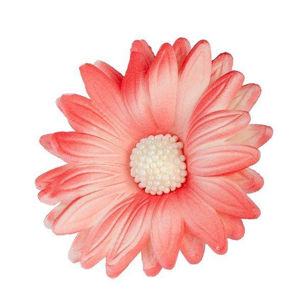 Kwiaty cukrowe MARGARETKA 10szt czerwone