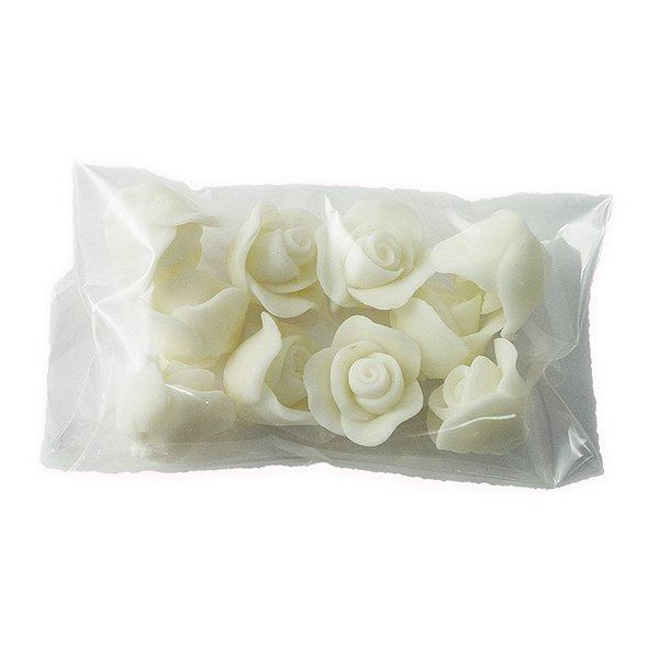 Cukrowe MINI RÓŻE różyczki białe 10szt