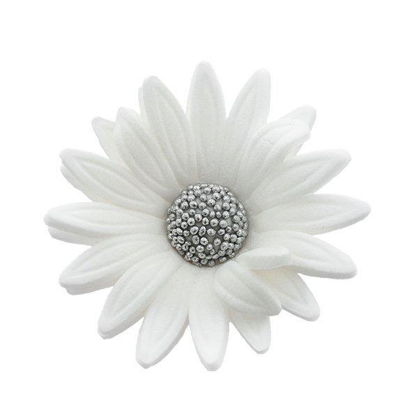 Kwiaty cukrowe MARGARETKA 10szt białe