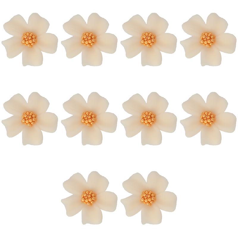 Kwiatki cukrowe na tort NIEZAPOMINAJKA 10szt ecru