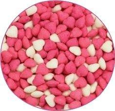 Posypka cukrowa SERDUSZKA białe różowe na tort deser 20g