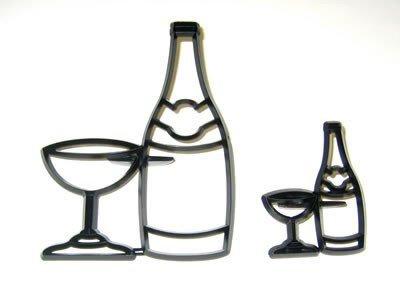 Patchwork Bottled & Glass - wycinarka Szampan i kieliszek