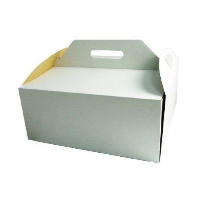Pudełko karton z rączką na tort ciasto 35x35X15 cm