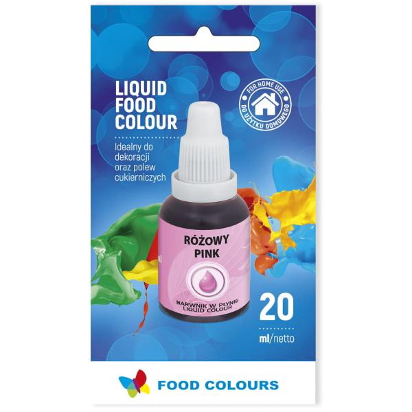 Barwnik spożywczy w płynie RÓŻOWY 20ml - Food Colours