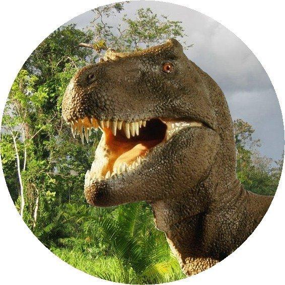 Hokus - opłatek na tort okrągły Tyranozaur 2