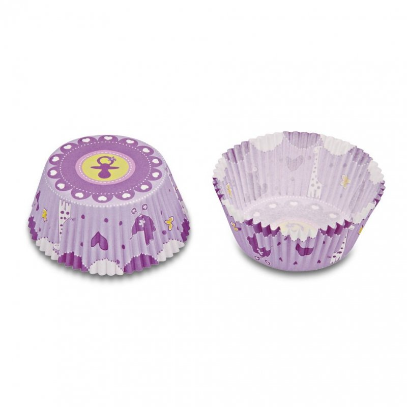 Papilotki, foremki do muffinek Baby Pink 50 szt