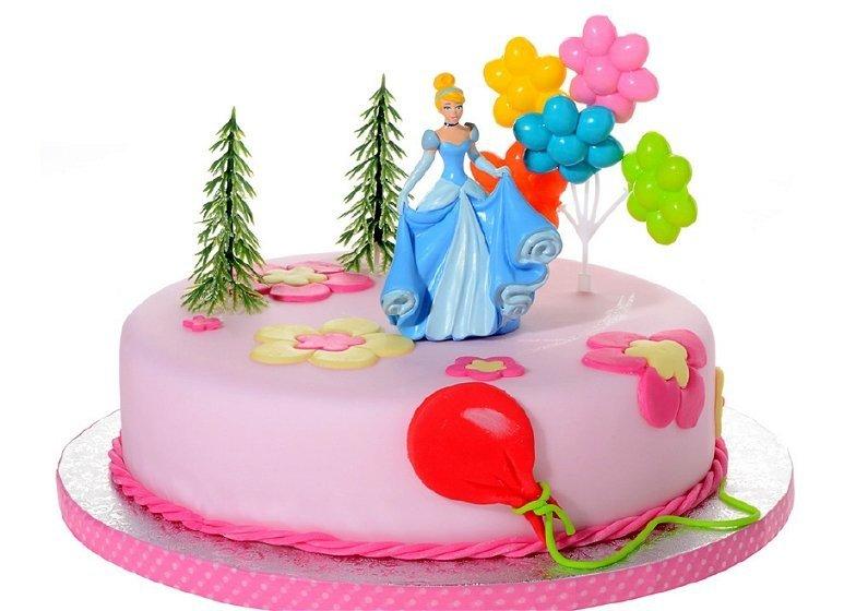 Zestaw do dekoracji tortu figurka Kopciuszek