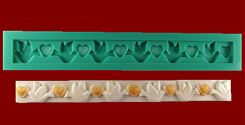 KBK - Serca i Gołębie silikonowa foremka do ozdób
