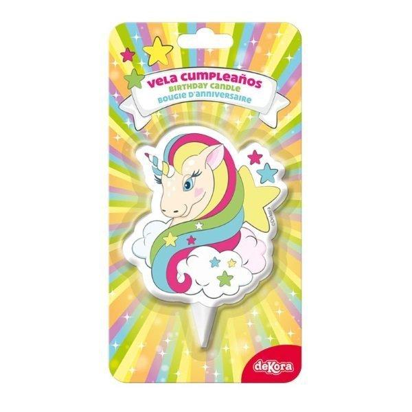 Świeczka urodzinowa na tort JEDNOROŻEC unicorn