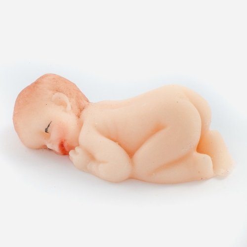 Figurka cukrowa BOBAS na tort chrzest baby shower 1 szt.