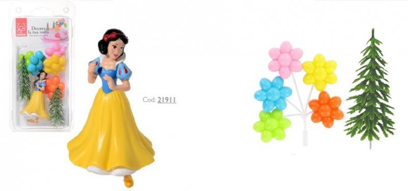 Zestaw do dekoracji tortu figurka Królewna Śnieżka