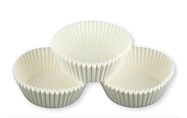 Papilotki foremki na muffinki 40mm białe 100szt