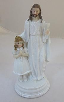 Jezus stojący z dziewczynką
