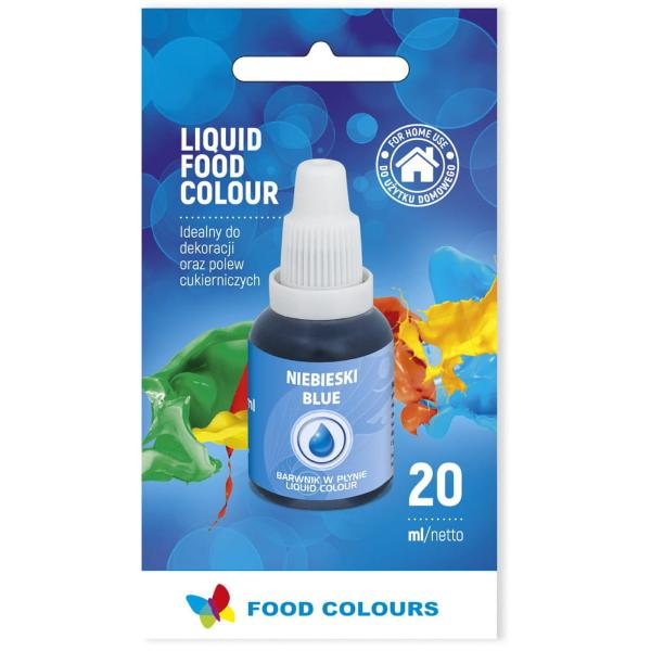 Barwnik spożywczy w płynie NIEBIESKI 20ml - Food Colours