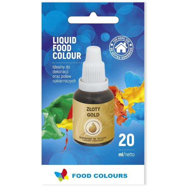 Barwnik spożywczy w płynie ZŁOTY 20ml - Food Colours