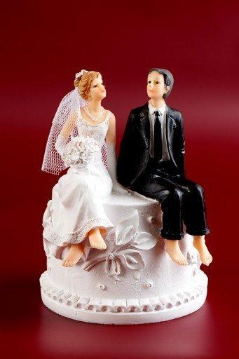Figurka na tort ślub PARA MŁODA SKARBONKA