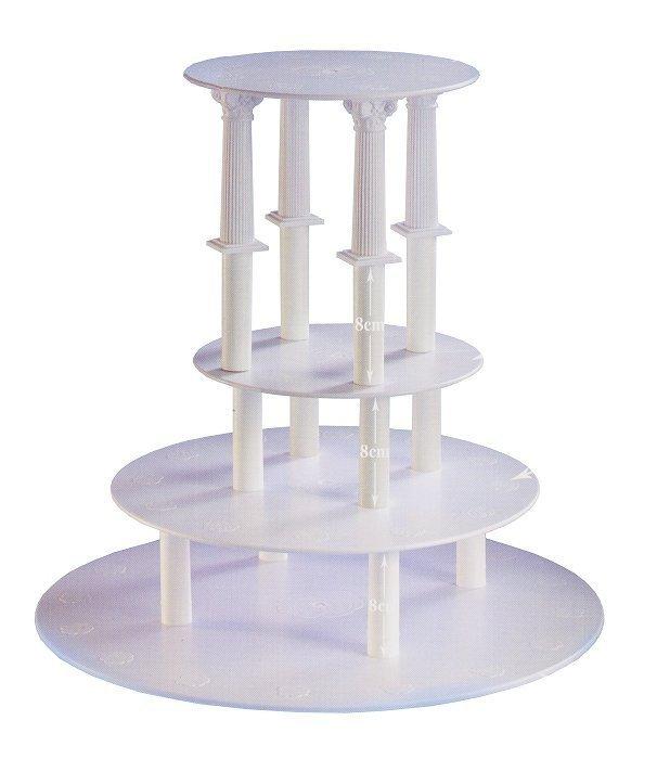 Kardasis - stojak okrągły na torty weselne 4 Kolumny