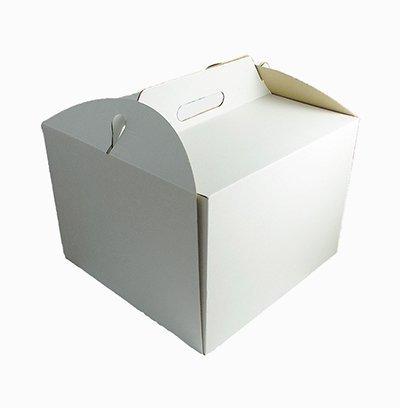 Pudełko karton z rączką na wysoki tort 34x34X25 cm