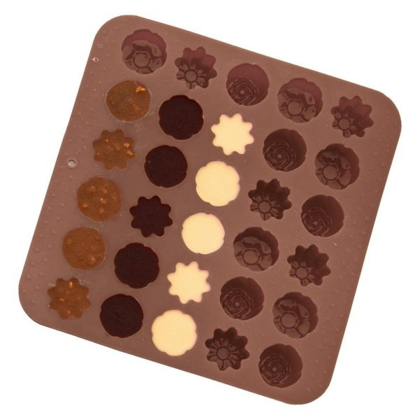 Forma silikonowa do ciastek PRALIN czekoladek 30szt