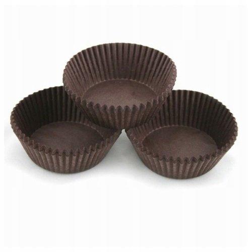 Papilotki foremki na muffinki 40mm brązowe 100szt