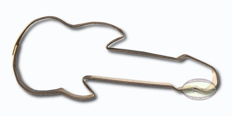 Wykrawacz FOREMKA do ciastek pierników GITARA ELEKTRYCZNA 11,5cm