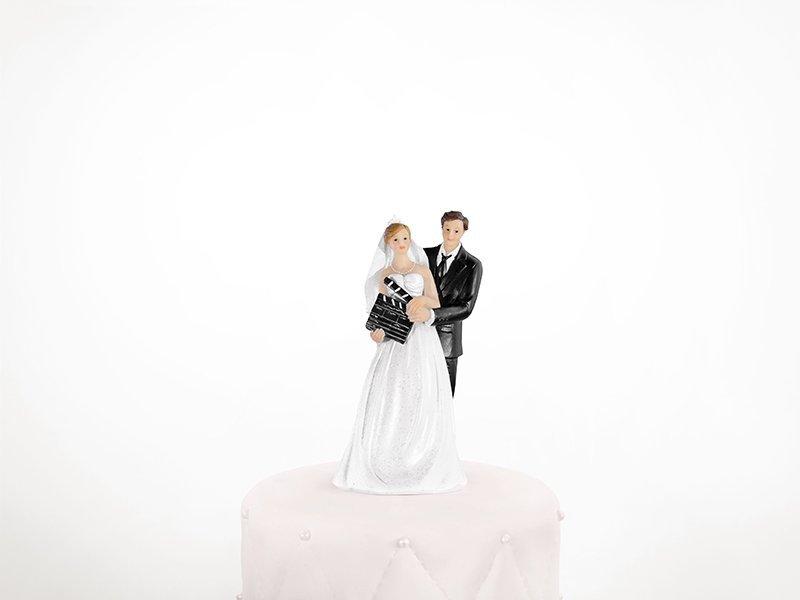 Figurka na tort ślub PARA MŁODA Z KLAPSEM