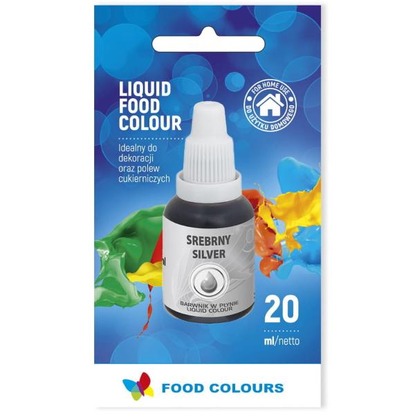Barwnik spożywczy w płynie SREBRNY 20ml - Food Colours