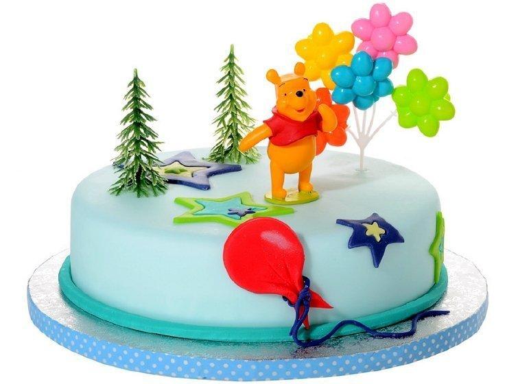 Zestaw do dekoracji tortu figurka Kubuś Puchatek