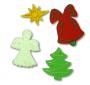 Dekoracja świąteczna bożonarodzeniowa z dzwonkiem