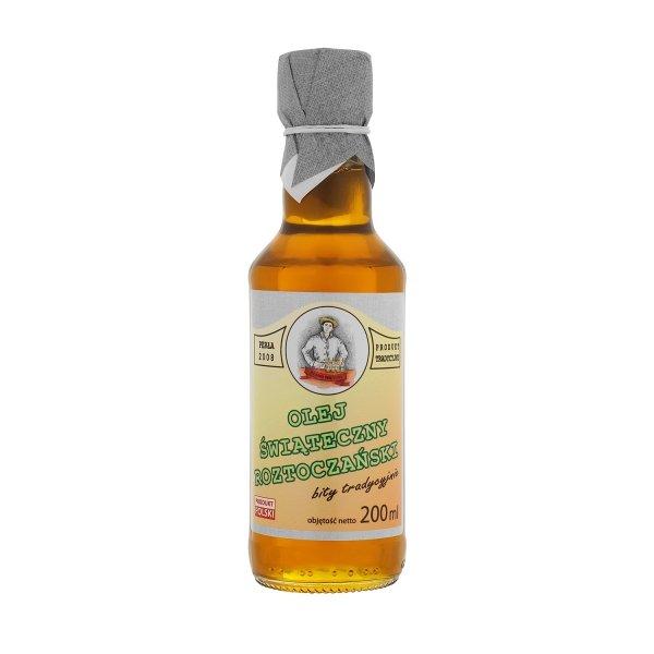 Olej świąteczny roztoczański 200 ml  bity tradycyjnie - przód