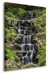 Kaskadowy wodospad - Obraz na płótnie