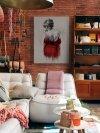 Obraz na ścianę - Red XXXVIII - Kobieta w czerwieni 60x80 cm